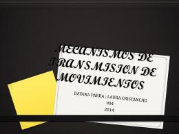 MECANISMOS DE TRANSMISION DE MOVIMIENTOS
