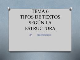 tema 5 tipos de textos según la estructura