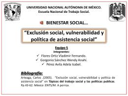Descarga la Exposición - bienestar social ents