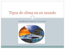 Tipos de clima en eñ mundo