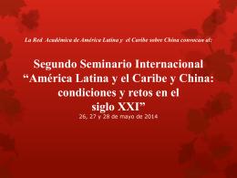 Primer Seminario Internacional *América Latina y el - red alc