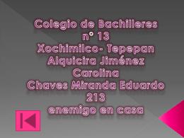 Tepepan Alquicira Jiménez Carolina Chaves Miranda