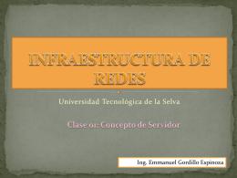 clase01Servidor - Universidad Tecnológica de la Selva