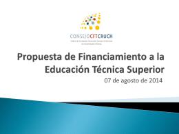 Propuesta de Financiamiento a la Educación Técnica Superior