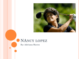 Nancy Lopez powerpoint