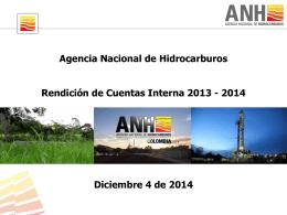 Diapositiva 1 - Agencia Nacional de Hidrocarburos
