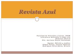 REVISTA AZUL - La edición en el siglo XIX