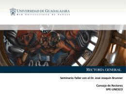 Seminario-Taller con el Dr. José Joaquín Brunner
