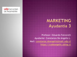 Ayudantía 3 Marketing, 1er semestre 2013