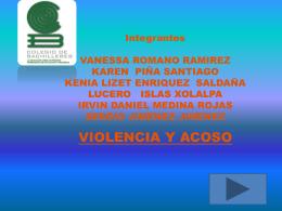 PRESENTACION DE ACOSO Y VIOLENCIA tic 2