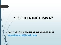 Escuela inclusiva - Educación Especial