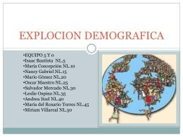 EXPLOCION DEMOGRAFICA