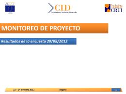 Monitoreo De Proyecto – Fondazione Crui