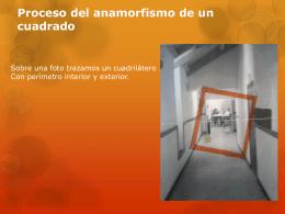Proceso del anamorfismo de un cuadrado