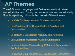 AP Themes and ACTFL Proficiency
