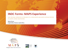 INDC Forms - Mitigation Action Plans and Scenarios (MAPS)