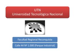 UTN-presentacion - UTN Regional Reconquista
