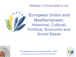 Máster Universitario en European Union and Mediterranean