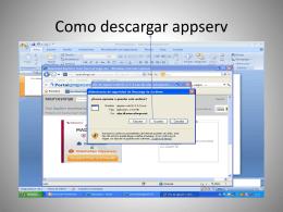 Como descargar appserv - Informaticaluisfernando