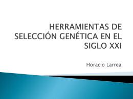 herramientas de selección genética en el siglo xxi