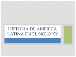 Historia de América Latina en el siglo XX