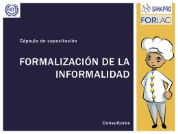 Formalización de la informalidad - Consultores