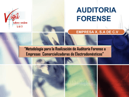 EQUIPO DE TRABAJO 01 AUDITORÍA FORENSE CRITICA DE