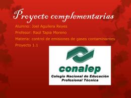 Proyecto complementarias