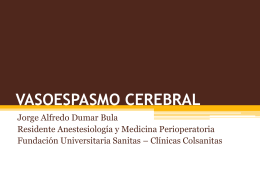 VASOESPASMO CEREBRAL