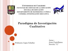 paradigma de investigacion cualitativo