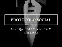 Power Point PROTOCOLO SOCIAL