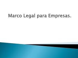Marco Legal para Empresas.