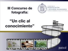 III Concurso de fotografía