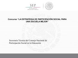 Presentación de PowerPoint - Consejos Escolares de Participación