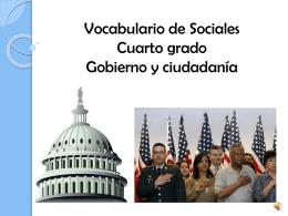 vocabulario sociales gobierno y ciudadanía