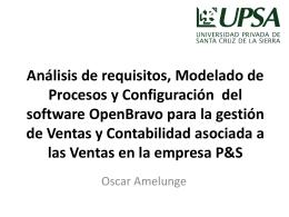 Implementación del software OpenBravo ERP para la gestión de