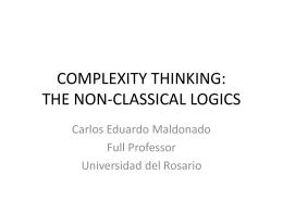 complexity thinking - Carlos Eduardo Maldonado