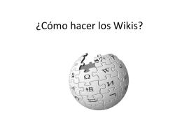 Cómo hacer un Wikis