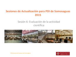 Evaluación de la actividad investigadora y de las publicaciones