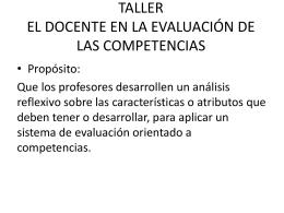 taller el docente en la evaluación de las competencias