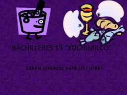 BACHILLERES 13 *XOCHIMILCO*