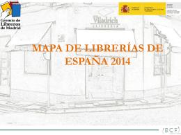 MAPA DE LIBRERÍAS DE ESPAÑA 2013