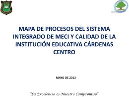 mapa de procesos iecc - INSTITUCION EDUCATIVA CARDENAS