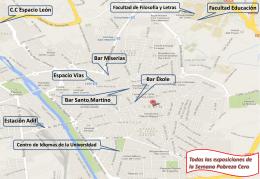 Mapa de Exposiciones