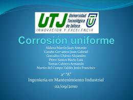 Corrosión uniforme - Miutj`s Blog de la UTJ