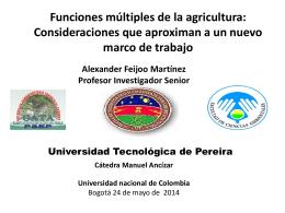 Alexander Feijoo - Universidad Nacional de Colombia