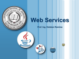 Web services, clases serializables