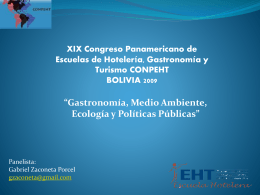 XIX Congreso Panamericano de Escuelas de Hotelería