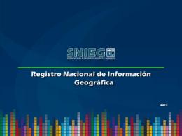 RNIG - Comité Estatal de Información Estadística y Geográfica del