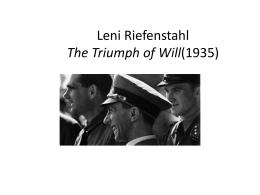 Leni Riefenstahl El Triunfo de la voluntad (1935)
